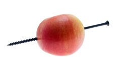 jabłko przebija śrubę Fotografia Stock