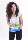 jabłko rezerwuje dziewczyny ja target3564_0_ szczęśliwy Zdjęcie Stock