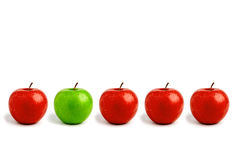 jabłko rząd Fotografia Stock