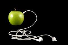 jabłko słuchawki obraz royalty free