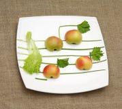 jabłko sałatę muzyki cebuli Zdjęcia Royalty Free