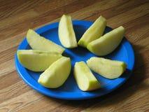 jabłko wachlujący plasterki zdjęcie stock