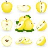 jabłko złoty Fotografia Royalty Free