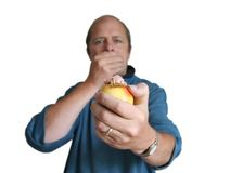 jabłko z powrotem kęsów Fotografia Royalty Free