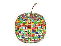 jabłko zaznacza świat ilustracja wektor