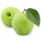 jabłko zieleń dwa Zdjęcie Royalty Free