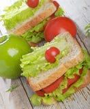jabłko - zielona kanapka fotografia royalty free