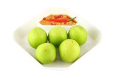 jabłko - zielona małpa Obrazy Royalty Free