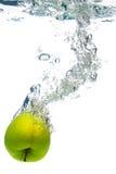 jabłko - zielona wody zdjęcia royalty free