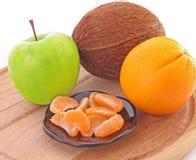 jabłko - zielone mandarynki fotografia royalty free