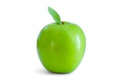 jabłko - zielony liść Fotografia Royalty Free