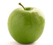 jabłko - zielony występować samodzielnie fotografia stock