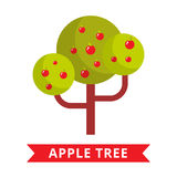 Jabłoń wektor royalty ilustracja