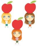 Jabłczana dieta royalty ilustracja
