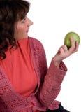 jabłczana dziewczyna Fotografia Royalty Free
