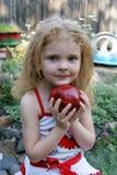jabłczana dziewczyna Obrazy Royalty Free