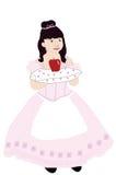 jabłczana dziewczyna royalty ilustracja