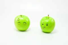 Jabłczana emocja Obrazy Royalty Free