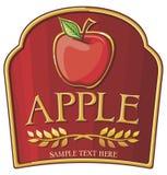 jabłczana etykietka Ilustracji