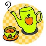 jabłczana herbaty. ilustracja wektor