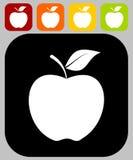 Jabłczana ikona - ilustracja Obrazy Stock