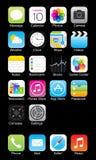 Jabłczana iphone ikona Zdjęcia Stock