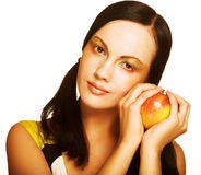 jabłczana kobieta Obrazy Royalty Free