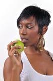 jabłczana kobieta Zdjęcie Royalty Free