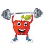 Jabłczana weightlifting ilustracja Fotografia Royalty Free