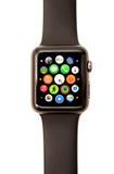 Jabłczana zegarka App wyrzutnia i ikony Zdjęcie Stock