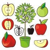 Jabłczane ikony Zdjęcie Royalty Free
