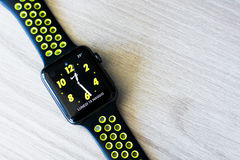 Jabłczane zegarek serie 2 nike+ Zdjęcie Stock