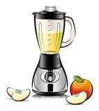 jabłczanego blender koloru rysunkowa soku kuchnia Obrazy Royalty Free