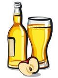 Jabłczanego cydru butelka Obrazy Royalty Free