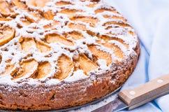 Jabłczanego kulebiaka deser odosobnienie tortowy owocowy biel Obrazy Royalty Free