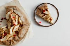 Jabłczanego kulebiaka galette tarta Obraz Stock