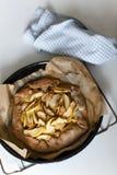 Jabłczanego kulebiaka galette tarta Zdjęcia Royalty Free