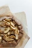 Jabłczanego kulebiaka galette tarta Zdjęcie Royalty Free
