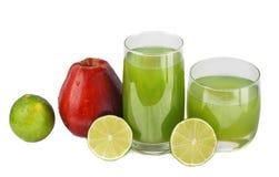jabłczanego soku wapno obraz stock