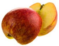 jabłczani czerwoni plasterki Obraz Stock