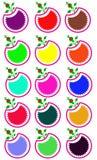 Jabłczani logowie obraz stock