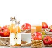 Jabłczani mieszanka plasterki Fotografia Stock