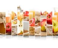 Jabłczani mieszanka plasterki Obrazy Royalty Free