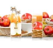 Jabłczani mieszanka plasterki Obraz Royalty Free