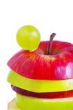 jabłczani plasterki fotografia stock