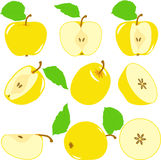 Jabłczani plasterki, kolekcja ilustracje Zdjęcie Royalty Free