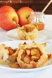 Jabłczani tarts i miód Obraz Royalty Free