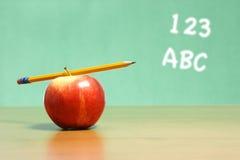 jabłczany biurko zdjęcie stock