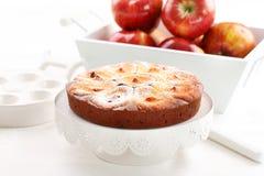 Jabłczany cheesecake Obrazy Royalty Free