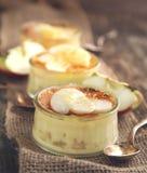 Jabłczany creme brulee Zdjęcie Royalty Free